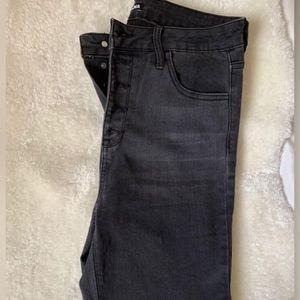 Fashion Nova high-waisted grey jeans size 9